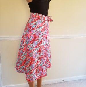 Vintage cotton wrap around skirt